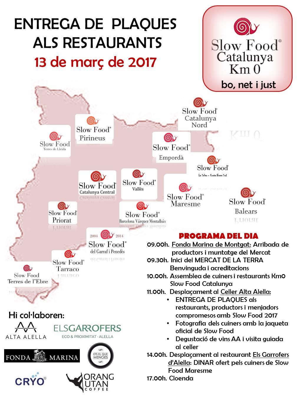 LLIURAMENT DELS CARGOLS km0 SLOW FOOD 2017