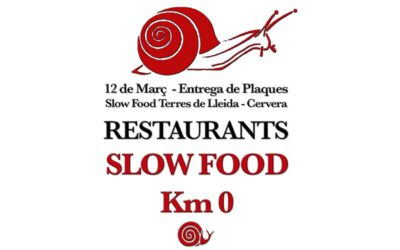 PROGRAMA ENTREGA DE PLAQUES RESTAURANTS SLOW FOOD KM0 2018