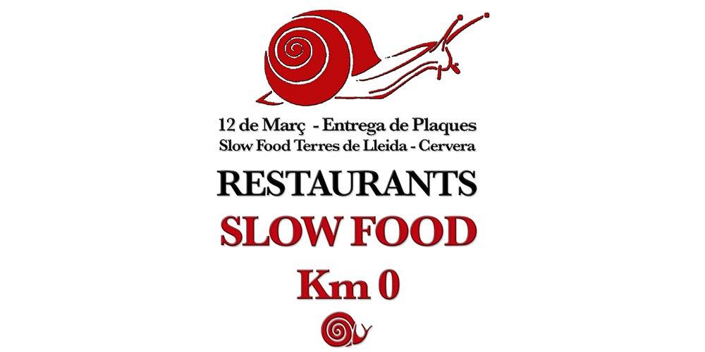 PROGRAMA ENTREGA DE PLAQUES RESTAURANTS SLOW FOOD KM0 2018